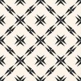 Abstract geometrisch naadloos patroon Stervormen, kruisen, diagonaal vierkant net Stock Afbeeldingen