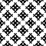 Abstract geometrisch naadloos patroon, vierkante cijfers Stock Foto