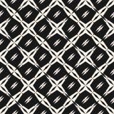 Abstract geometrisch naadloos patroon Vierkante nettextuur, stervormen, kruisen Stock Fotografie