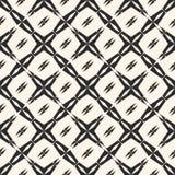 Abstract geometrisch naadloos patroon Vierkante nettextuur, stervormen, kruisen Stock Afbeelding