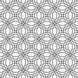 Abstract geometrisch naadloos patroon Zwart-wit stijlpatroon met cirkel Stock Afbeelding