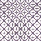 Abstract geometrisch naadloos patroonroze en blauw Stock Fotografie