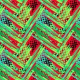 Abstract geometrisch naadloos ruw grungepatroon, moderne desig royalty-vrije stock foto's