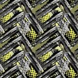 Abstract geometrisch naadloos ruw grungepatroon, moderne desig vector illustratie