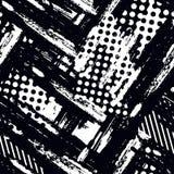 Abstract geometrisch naadloos ruw grungepatroon, moderne desig royalty-vrije illustratie