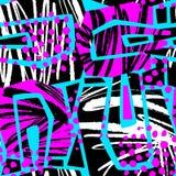 Abstract geometrisch naadloos ruw grungepatroon, moderne desig stock illustratie
