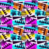 Abstract geometrisch naadloos ruw grungepatroon, moderne desig royalty-vrije stock fotografie