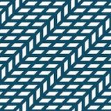 Abstract geometrisch net Het blauwe minimale grafische patroon van de ontwerpdruk Stock Fotografie