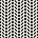 Abstract geometrisch net Het zwart-witte minimale grafische patroon van de ontwerpdruk Stock Afbeeldingen