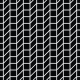 Abstract geometrisch net Het zwart-witte minimale grafische patroon van de ontwerpdruk Royalty-vrije Stock Foto