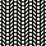Abstract geometrisch net Het zwart-witte minimale grafische patroon van de ontwerpdruk royalty-vrije illustratie
