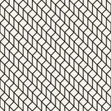 Abstract geometrisch net Het zwart-witte minimale grafische patroon van de ontwerpdruk Royalty-vrije Stock Foto's