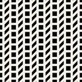 Abstract geometrisch net Het zwart-witte minimale grafische patroon van de ontwerpdruk Royalty-vrije Stock Afbeelding