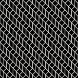 Abstract geometrisch net Het zwart-witte minimale grafische patroon van de ontwerpdruk Stock Afbeelding