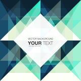 Abstract geometrisch ontwerp als achtergrond met plaats voor uw tekst vector illustratie