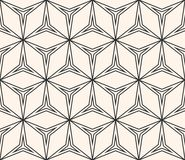 Abstract geometrisch ornament, dunne lijnen, driehoekige vormen Stock Foto