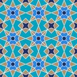 Abstract geometrisch ornament met vier-straal symmetrie vector illustratie