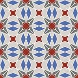 Abstract geometrisch ornament met vier-straal symmetrie royalty-vrije illustratie