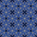 Abstract geometrisch ornament met vier-straal symmetrie stock illustratie