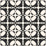 Abstract geometrisch ornament Zwart-wit naadloos patroon, marocan stijltextuur Stock Afbeeldingen