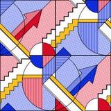 Abstract geometrisch patroon 6 stock illustratie