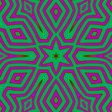 Abstract geometrisch patroon als achtergrond in groene en roze kleuren Etnische bohostijl De structuur van het mozaïekornament, v Royalty-vrije Stock Afbeelding
