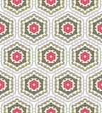 Abstract geometrisch patroon, bloemenachtergrond Royalty-vrije Stock Foto's