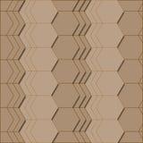 Abstract geometrisch patroon in bruine kleuren royalty-vrije illustratie