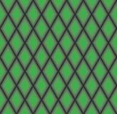 Abstract Geometrisch patroon Diagonale lijnachtergrond Abstract diamantornament Groene ruittextuur Stock Afbeelding
