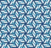 Abstract Geometrisch patroon Een caleidoscoop van lijnen en driehoeken Stock Illustratie
