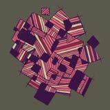 Abstract geometrisch patroon met chaotische strepen Stock Afbeelding