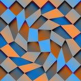 Abstract geometrisch patroon met diagonale gradiënt Stock Afbeeldingen