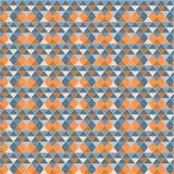 Abstract geometrisch patroon met driehoeken Stock Foto
