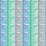 Abstract geometrisch patroon met golvende lijnen, strepen royalty-vrije stock afbeelding