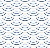 Abstract geometrisch patroon met golvende lijnen, strepen Een naadloze vectorachtergrond Beige en wit ornament Royalty-vrije Stock Foto