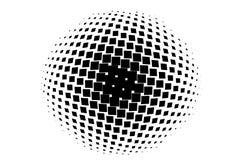 Abstract geometrisch patroon met kleine vierkanten Zwart-witte de kleuren Vectorillustratie van het ontwerpelement Royalty-vrije Stock Fotografie