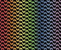 Abstract geometrisch patroon in multi-colored gradiënt met dunne witte lijnen op zwarte kleurenachtergrond - Vectorillustratie Vector Illustratie