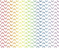 Abstract geometrisch patroon in multi-colored gradiëntrood, sinaasappel, geel, groen, blauw, indigo, viooltje op witte kleur - Ve Royalty-vrije Illustratie