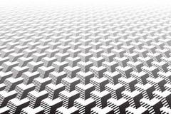 Abstract Geometrisch patroon Optische illusieeffect royalty-vrije illustratie
