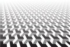 Abstract Geometrisch patroon Optische illusieeffect vector illustratie