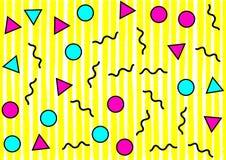 Abstract geometrisch patroon in retro stijl van Memphis Stock Afbeelding