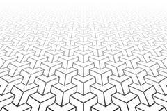 Abstract Geometrisch patroon Verminderend Perspectief vector illustratie