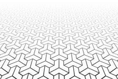 Abstract Geometrisch patroon Verminderend Perspectief stock illustratie