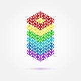Abstract geometrisch regenboog vectorpictogram stock illustratie