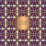 Abstract geometrisch retro naadloos patroon Het kan voor prestaties van het ontwerpwerk noodzakelijk zijn Royalty-vrije Stock Afbeeldingen
