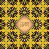 Abstract geometrisch retro naadloos patroon Het kan voor prestaties van het ontwerpwerk noodzakelijk zijn Stock Foto's
