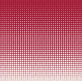 Abstract geometrisch rood gradiënt vierkant halftone patroon Stock Fotografie