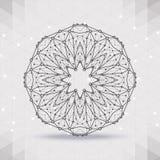 Abstract geometrisch rooster, het werkingsgebied van molecules vector illustratie