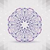 Abstract geometrisch rooster, het werkingsgebied van molecules stock illustratie