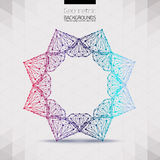 Abstract geometrisch rooster, het werkingsgebied van molecules, de molecules in de ster stock illustratie